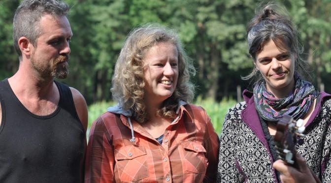 Portret van Frans, Valérie en Meike (v.l.n.r.)